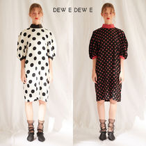 DEW E DEW E(ドュイドュイ) ワンピース ★DEW E DEW E★ BIG DOT HIGH NECK DRESS