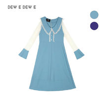 DEW E DEW E(ドュイドュイ) ワンピース ★DEW E DEW E★ DEW E HEART DEW E_CHIFFON FRILL LONG DRESS
