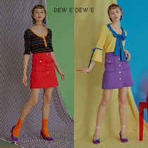 DEW E DEW E(ドュイドュイ) ミニスカート ★DEW E DEW E★ DEW E HEART DEW E_NEOPRENE MINI SKIRT