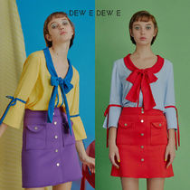 DEW E DEW E(ドュイドュイ) ブラウス・シャツ ★DEW E DEW E★ DEW E HEART DEW E_ROUND COLLAR RIBBON BLOUSE