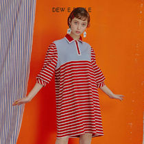 DEW E DEW E(ドュイドュイ) ワンピース ★DEW E DEW E★ DEW E HEART DEW E_STRIPE DRESS