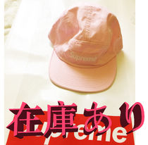 在庫ありSS18 SUPREME WASHED CHINO TWILL CAMP CAP LIGHT PINK