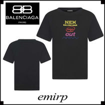 BALENCIAGA★大人もOK☆ 'NEW BALENCIAGA LOGO OUT'Tシャツ