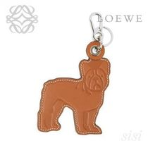 LOEWE★ロエベ Bulldog Dog Charm Tan/Marfil