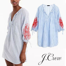 J CREW 水着のカバーアップに Embroidered long-sleeve cover-up