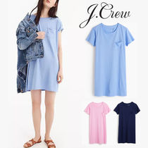 J CREW 楽ちんTシャツドレスGarment-dyed pocket T-shirt dress