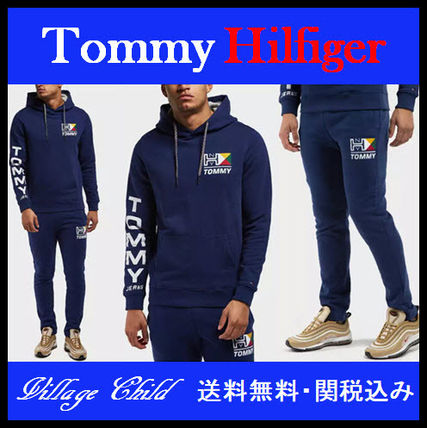 Tommy Hilfiger☆レトロロゴ パーカー&パンツ セットアップ