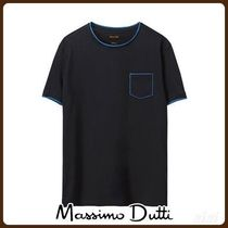 MassimoDutti♪T-SHIRT WITH CONTRASTING DETAIL