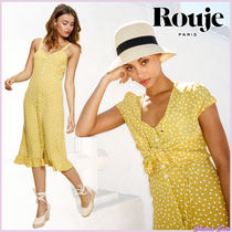 【18SS NEW】 Rouje_women GINAワンピース / イエロー系ドット柄