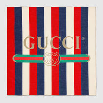 "【 ""小物で差をつける。"" GUCCI logo Sylvie cotton scarf 】"
