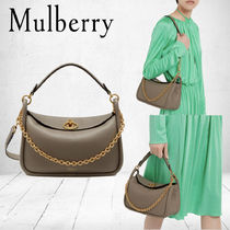 Mulberry Small Leighton  ソリッドグレーSmall Classic Grain