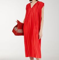 "ARKET(アーケット) ワンピース ""ARKET""Pleated Jersey Dress Red"