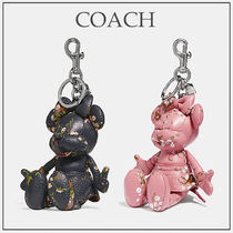 COACH ミニーマウス ドール バッグチャーム 黒/ピンク☆国内発送