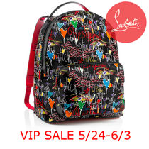VIPSALE先行 18SS Louboutin MEN Backloubi Backpack Black