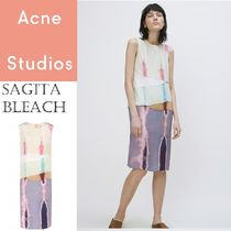 [Acne] Sagita Bleach silk Sea Green Mix シルクブリーチドレス