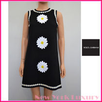 Dolce & Gabbana★素敵!Black Daisy Embroidered Dress