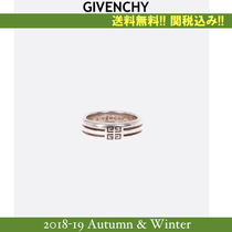 18AW,関税込★GIVENCHY(ジバンシイ)4G double row band リング