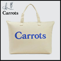 Carrots By Anwar Carrots(キャロッツ) マザーズバッグ Carrots キャロッツ 大容量トートバッグ シンプルロゴ Weekender