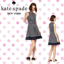 Kate Spade ケイトスペード Stripe Ponte Fit-&-Flare Dress