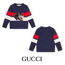 【GUCCI】Children's sweatshirt with panther face