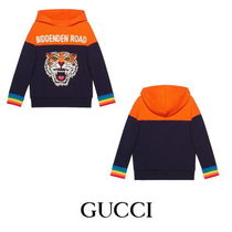 【GUCCI】Children's hooded sweatshirt with appliques