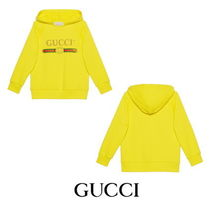 【GUCCI】Children's hooded sweatshirt with Gucci logo