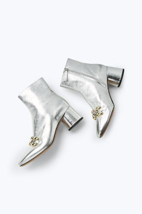 MARC JACOBS シューズ・サンダルその他 ★日本未入荷★ MARC JACOBS/ Remi Chain Link Ankle Boot 本革