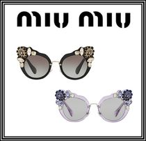 ☆MiuMiu☆GLASSES WITH CRYSTALSY☆華やかなビジュー付き☆
