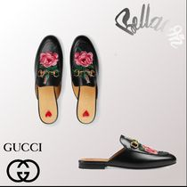 2018ss 新作 GUCCI Princetown leather slipper