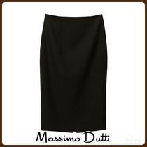 MassimoDutti♪TEXTURED WEAVE PENCIL SUIT SKIRT