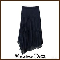 MassimoDutti♪PLEATED SKIRT WITH ASYMMETRIC HEM