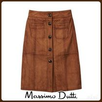 MassimoDutti♪SUEDE SKIRT WITH POCKET DETAILS