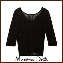 MassimoDutti♪OPENWORK COTTON SWEATER WITH BACK DETAIL