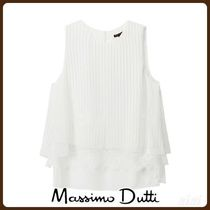 MassimoDutti♪LAYERED, STRIPED AND LACE-TRIMMED TOP