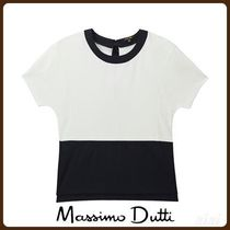 MassimoDutti♪CONTRASTING SWEATSHIRT WITH TIED BOW DETAIL