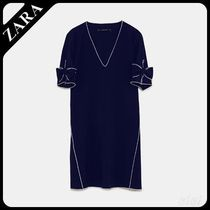 ★ZARA★ザラ  DRESS WITH CONTRASTING PIPING