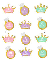 月齢ステッカー★Pearhead Little Princess Belly Stickers★