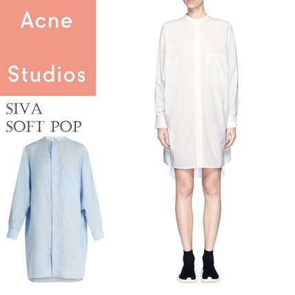 Acne Siva Shirtsdress soft poplin ボクシーシャツドレス2色