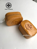 新色SALE TORY BURCH★STACKED PATENT SMALL COSMETIC CASE