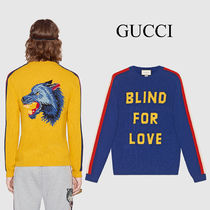 """GUCCI """"Blind for Love"""" ウール セーター 2種"""