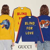 "GUCCI ""Blind for Love"" ウール セーター 2種"
