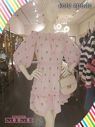 パイナップル柄kate spade☆pineapple off the shoulder dress
