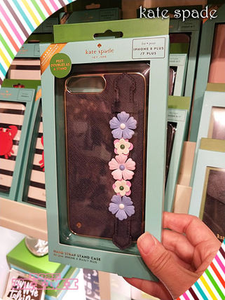 お勧めkate spade★floral hand strap stand iphone 7 & 8 plus