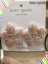 Kate spade☆PAVE BLOOM STUDS★キラキラ花柄ピアス