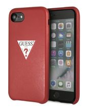 PU LEATHER CASE TRIANGLE LOGO for iPhone 8 (RED)