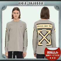 19AW/送関込≪OFF-WHITE≫ L/S Arrows プリント 長袖カットソー