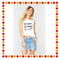 The Laundry Room(ランドリールーム) Tシャツ・カットソー 【関税・送料込】  I Choose Tacos Crop Muscle Tee