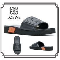 LOEWE(ロエベ) Leather Logo Embossed Sandal Slipper サンダル