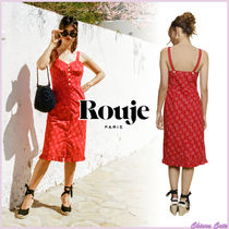 【18SS NEW】 Rouje_women GINAワンピース / レッド×フラワー