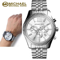 激安! Michael Kors Men's Silver Lexington 腕時計 MK8405